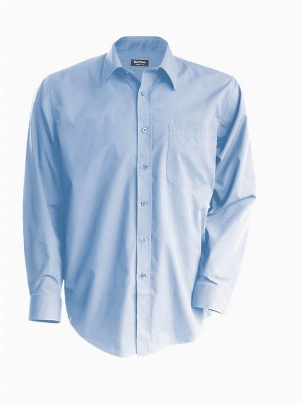 Pánská košile číšnická s dlouhým rukávem v nežehlivé úpravě - barva světle  modrá 5bf1d7231d