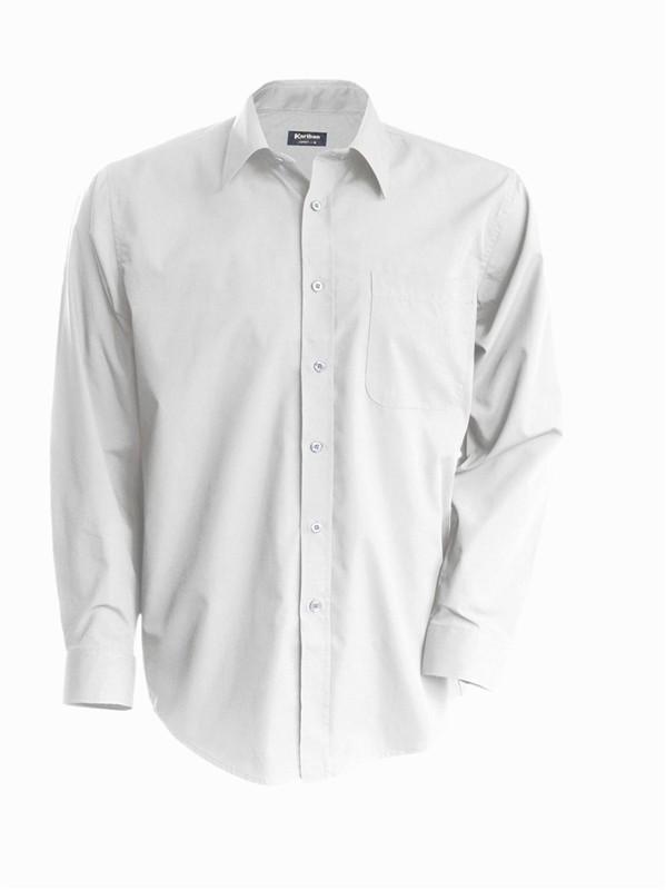 Pánská košile číšnická s dlouhým rukávem v nežehlivé úpravě - barva bílá 0b29ee6475