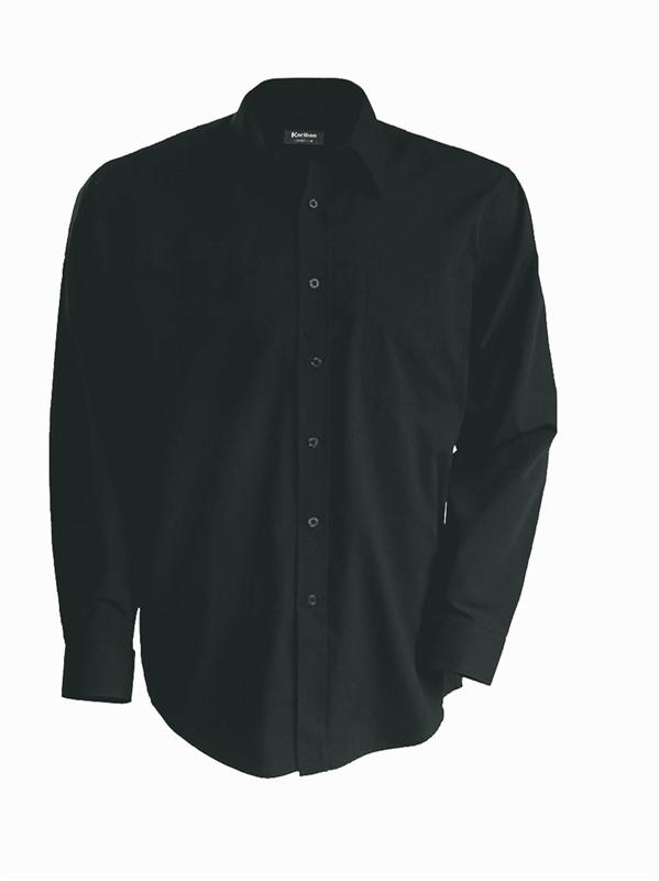 Pánská košile číšnická s dlouhým rukávem v nežehlivé úpravě - barva tmavě  šedá 1a6a0adfb4