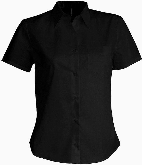 Dámská košile krátký rukáv - barva černá  d2ce90eeef