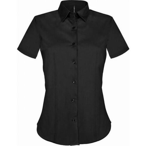 Košile dámská strečová s krátkým rukávem - barva černá ab94bce564
