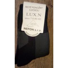 a7662fca57a Pracovní ponožky Lux froté Česko teplé bavlna Česko - barva černá