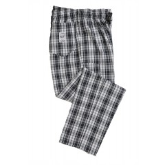 Cukrářské kalhoty Le Chef vzor tkanina pánské i dámské - barva tartan  černo-bílý 2525413cf2