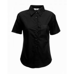 Dámská košile číšnická krátký rukáv - barva černá 17ad372239