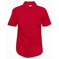 Dámská košile číšnická krátký rukáv - barva červená 340e45f6c7