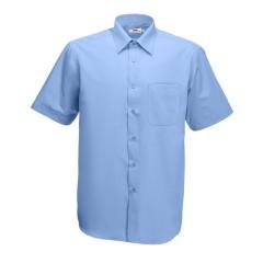 Pánská košile krátký rukáv - barva světle modrá 9e5fb96322