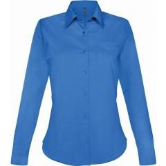 Dámská košile dlouhý rukáv - barva modrá d52e552502